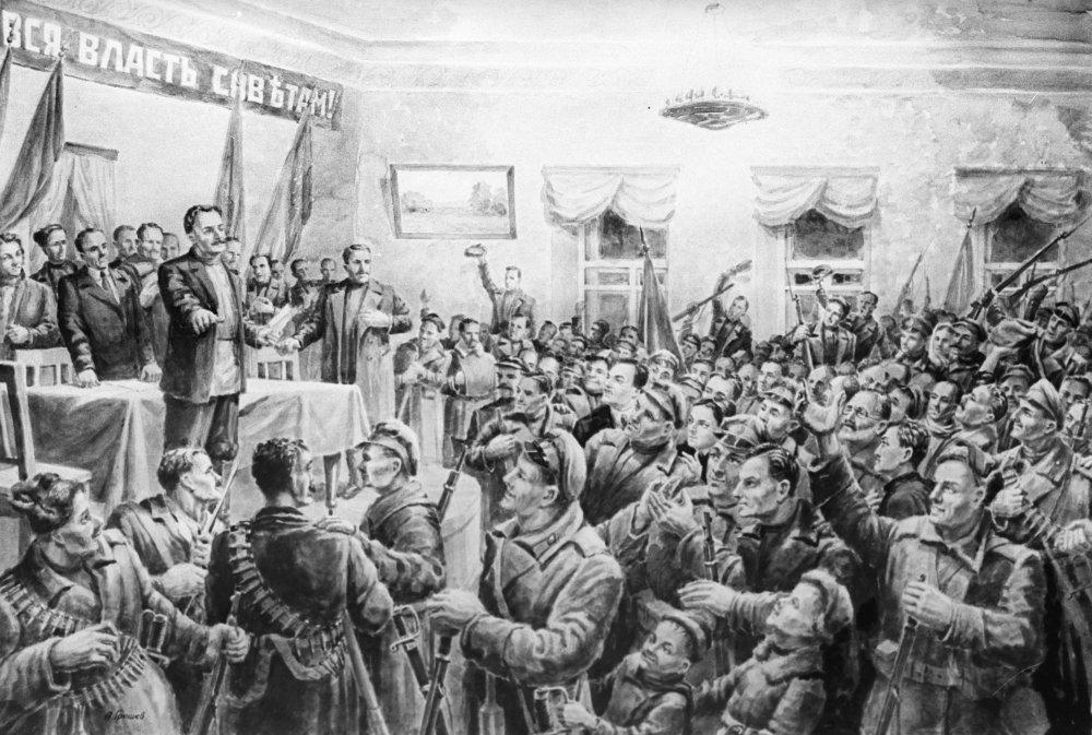 В Полевском на митинге трудящихся Совет рабочих депутатов провозгласил Советскую власть